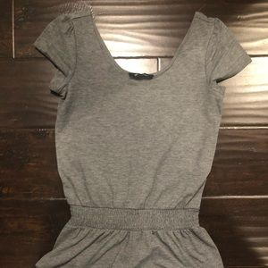 Gray cotton romper